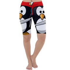 Penguin Pirate Tux Animal Bandana Cropped Leggings
