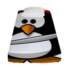 Penguin Pirate Tux Animal Bandana Fitted Sheet (single Size)