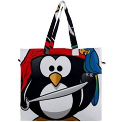 Penguin Pirate Tux Animal Bandana Canvas Travel Bag by Sapixe
