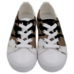 Black White Dog Beagle Pet Animal Kids  Low Top Canvas Sneakers