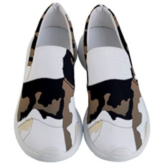 Black White Dog Beagle Pet Animal Women s Lightweight Slip Ons