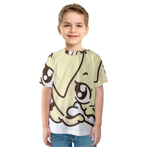 Doggy Dog Puppy Animal Pet Figure Kids  Sport Mesh Tee by Sapixe