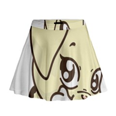 Doggy Dog Puppy Animal Pet Figure Mini Flare Skirt
