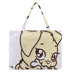 Doggy Dog Puppy Animal Pet Figure Zipper Medium Tote Bag by Sapixe