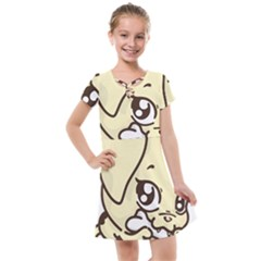 Doggy Dog Puppy Animal Pet Figure Kids  Cross Web Dress