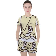 Doggy Dog Puppy Animal Pet Figure Women s Tee And Shorts Set