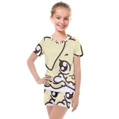 Doggy Dog Puppy Animal Pet Figure Kids  Mesh Tee And Shorts Set