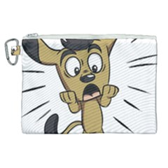 Animal Canine Cartoon Dog Pet Canvas Cosmetic Bag (xl) by Sapixe