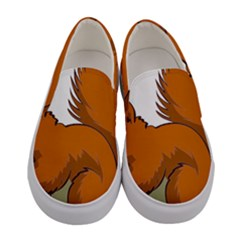 Squirrel Animal Pet Women s Canvas Slip Ons