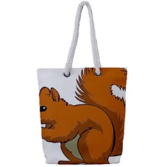 Squirrel Animal Pet Full Print Rope Handle Tote (small) by Sapixe