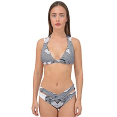 Cat Kitty Gray Tiger Tabby Pet Double Strap Halter Bikini Set by Sapixe