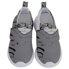 Cat Kitty Gray Tiger Tabby Pet Velcro Strap Shoes by Sapixe