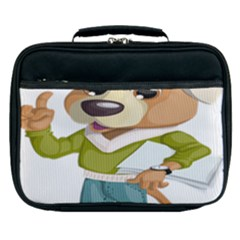 Dog Pet Dressed Point Papers Lunch Bag