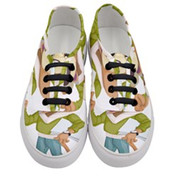 Dog Pet Dressed Point Papers Women s Classic Low Top Sneakers