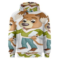 Dog Pet Dressed Point Papers Men s Overhead Hoodie