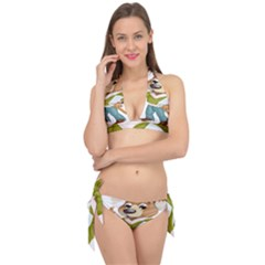 Dog Pet Dressed Point Papers Tie It Up Bikini Set