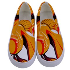 Goldfish Fish Tank Water Tropical Kids  Canvas Slip Ons