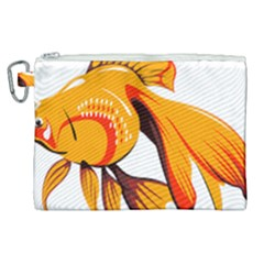 Goldfish Fish Tank Water Tropical Canvas Cosmetic Bag (xl) by Sapixe