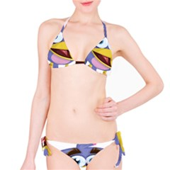 Bird Violet Beak Feather Fun Classic Bikini Set by Sapixe