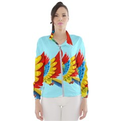 Parrot Animal Bird Wild Zoo Fauna Windbreaker (women)