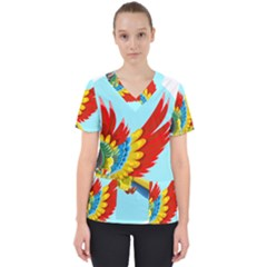 Parrot Animal Bird Wild Zoo Fauna Scrub Top