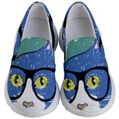 Drawing Cat Pet Feline Pencil Kid s Lightweight Slip Ons by Sapixe
