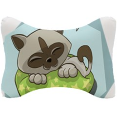 Kitten Kitty Cat Sleeping Sleep Seat Head Rest Cushion by Sapixe