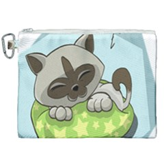 Kitten Kitty Cat Sleeping Sleep Canvas Cosmetic Bag (xxl) by Sapixe