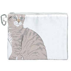 Kitten Cat Drawing Line Art Line Canvas Cosmetic Bag (xxl)