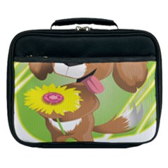 Dog Character Animal Flower Cute Lunch Bag