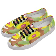 Dog Character Animal Flower Cute Women s Classic Low Top Sneakers by Sapixe