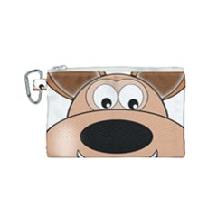 Doh Puppy Happy Pet Hound Animal Canvas Cosmetic Bag (small)