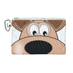 Doh Puppy Happy Pet Hound Animal Canvas Cosmetic Bag (large) by Sapixe
