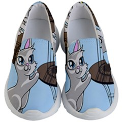 Cat Bird Cage Hunt Hunting Pet Kid s Lightweight Slip Ons by Sapixe