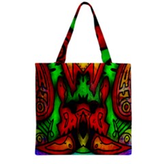 Faces Grocery Tote Bag by MRTACPANS