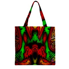 Faces Zipper Grocery Tote Bag