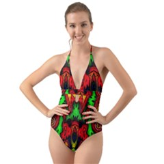 Faces Halter Cut-Out One Piece Swimsuit