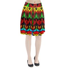Faces Pleated Skirt