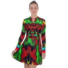 Faces Long Sleeve Panel Dress