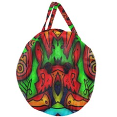 Faces Giant Round Zipper Tote
