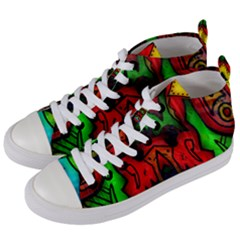 Faces Women s Mid-Top Canvas Sneakers
