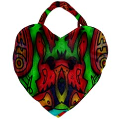 Faces Giant Heart Shaped Tote