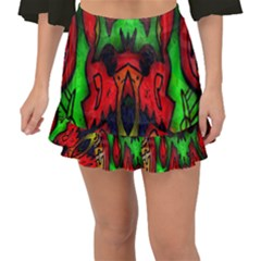 Faces Fishtail Mini Chiffon Skirt by MRTACPANS