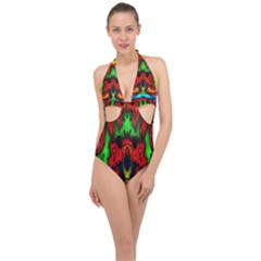 Faces Halter Front Plunge Swimsuit