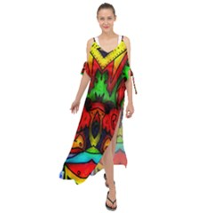Faces Maxi Chiffon Cover Up Dress