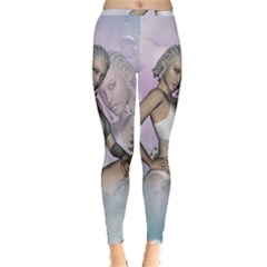 Fairy In The Sky With Fantasy Bird Inside Out Leggings