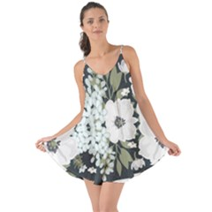 White Vintage Florals Love The Sun Cover Up