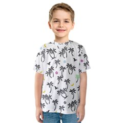 Tropical Pattern Kids  Sport Mesh Tee