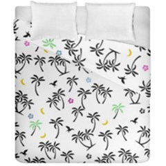 Tropical Pattern Duvet Cover Double Side (california King Size) by Valentinaart