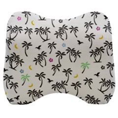 Tropical Pattern Velour Head Support Cushion by Valentinaart